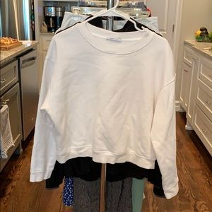 Adult Medium Zara Crop White T Shirt - Super Soft